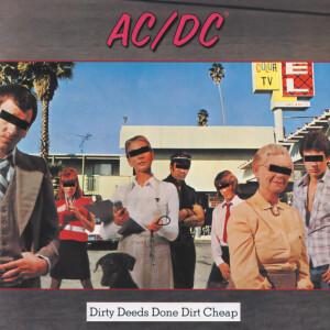 """AC/DC Dirty Deeds 4""""x4"""" Sticker"""