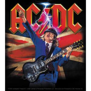 "AC/DC Angus British Flag 4""x4.5"" Sticker"