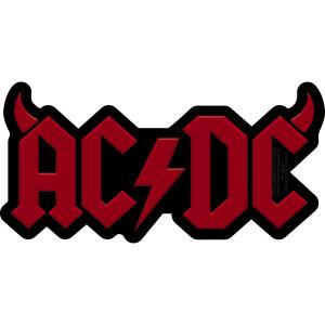 """AC/DC Logo w/ Horns 5.75""""x2.8"""" Sticker"""