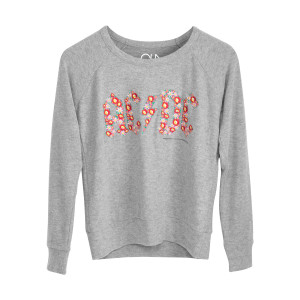 ACDC Grey Flower Logo Sweatshirt