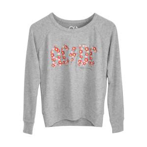 ACDC Grey Flower Logo Sweatshirt