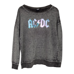 AC/DC Grey Sweater with Blue/White Logo