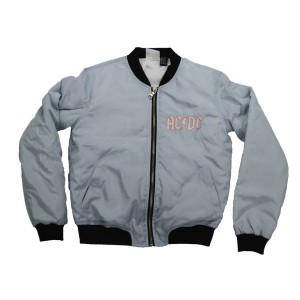 For Girls About To Rock Baby Blue Bomber Jacket
