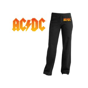 AC/DC Fire Logo Yoga Pants