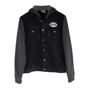 AC/DC Patch Logo Black Jean Jacket