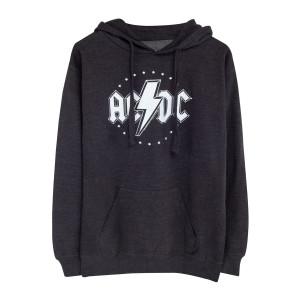 AC/DC Star Circle Logo Grey Hoodie