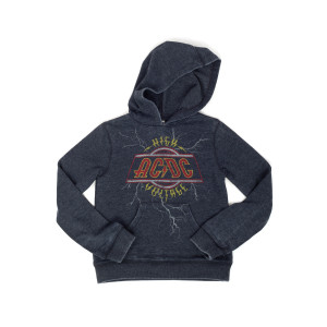 AC/DC Youth Gray High Voltage Hoodie
