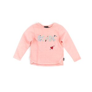 AC/DC Band Logo with Heart Iridescent Pink Kids Sweater