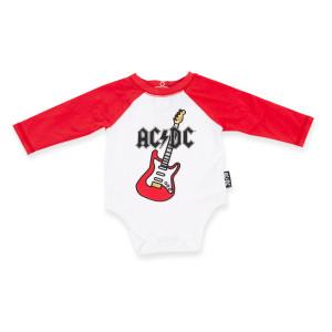 AC/DC Guitar/Logo Baby Onesie
