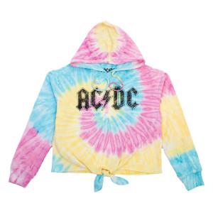 AC/DC Tie Dye Ladies Hoodie