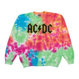 AC/DC Tie Dye Crew Neck Sweatshirt