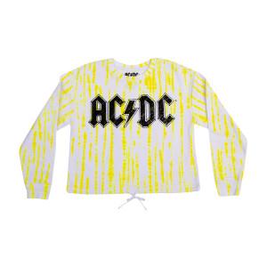 AC/DC Front Tie Ladies Crew Neck Sweatshirt