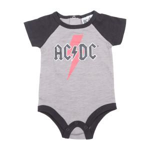 AC/DC Logo Grey & Black Onesie