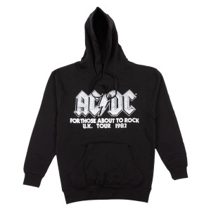 AC/DC For Those About to Rock UK Tour 1982 Black Pullover Hoodie