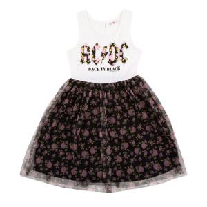 AC/DC Floral Girls Tank Dress