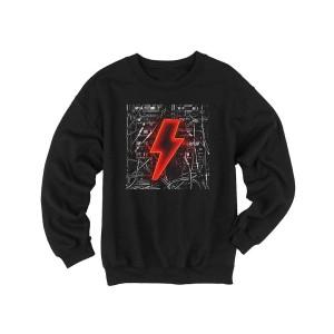 Bolt n' Wires Black Crew Neck Sweatshirt
