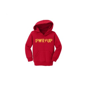 PWR/UP Youth Red Pullover Hoodie