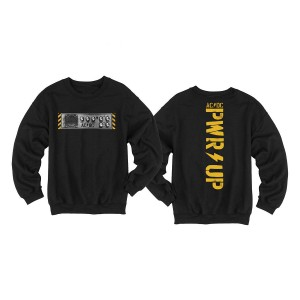 PWR UP Knobs Black Crew Neck Sweatshirt