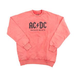 AC/DC Back in Black Coral Sweatshirt