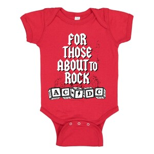For Those About To Rock Blocks Onesie