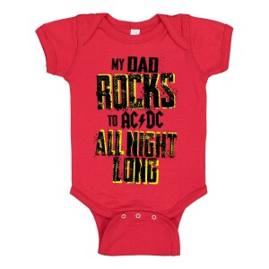 Dad Rocks All Night Long Onesie
