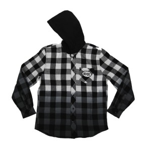 Men's Button Up Hooded Flannel Shirt