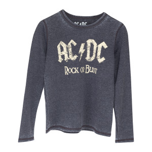 AC/DC Rock or Bust Logo Burnout Charcoal Sweatshirt