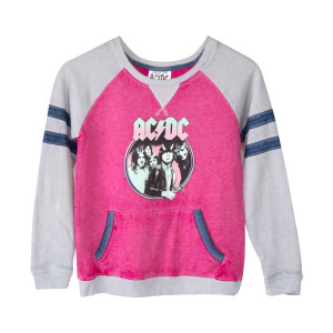 AC/DC Highway To Hell Album Cover Grey/Pink Juniors Sweatshirt