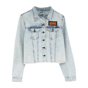 AC/DC Jean Jacket w/ Distressed Logo