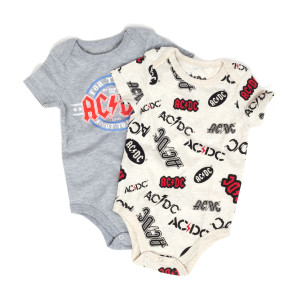 AC/DC For Those About To Rock Onesie/AC/DC Logos Two pack