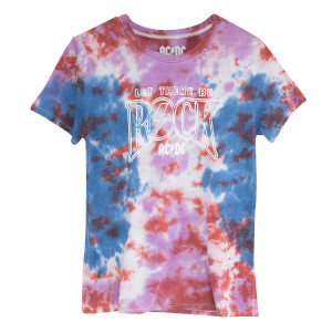 AC/DC Let There Be Rock Tie Dye T-shirt