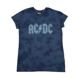 AC/DC Blue Tie-Dye Womens T-shirt