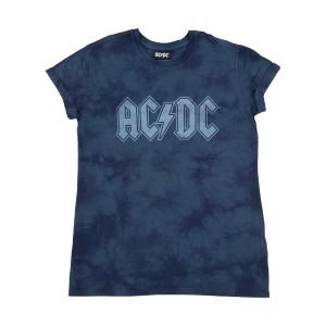 AC/DC Blue Tie-Dye Womens T-shirt