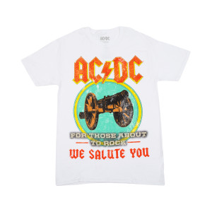 ACDC For Those About To Rock Faded T-shirt