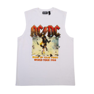 AC/DC Blow Up Your Video World Tour White Tank