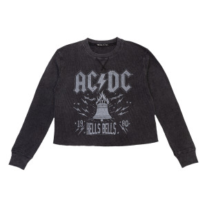 AC/DC Hells Bell Longsleeve Waffle Tee