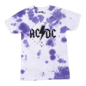 AC/DC Stars Purple Tie-Dye Tee