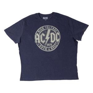 AC/DC High Voltage Big & Tall Navy Heather T-shirt