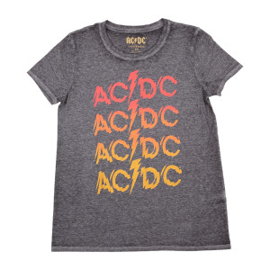 AC/DC Repeating Powerage Logo T-shirt