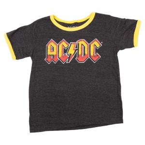 AC/DC Logo Yellow Ringer Kids T-shirt