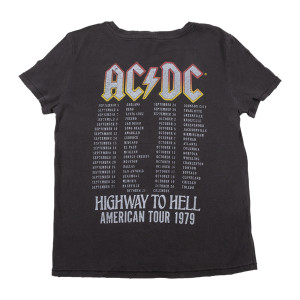 AC/DC Highway to Hell 1979 Tour Dateback Women's T-shirt