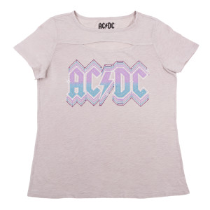 AC/DC Graphic Cut Out Womens T-shirt