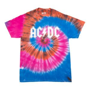 AC/DC Logo Tie Dye T-Shirt