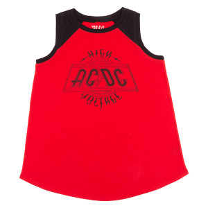 AC/DC High Voltage Ladies Plus Size Tank Top