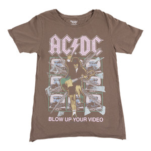 AC/DC Blow Up Your Video Ladies T-shirt