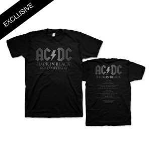 AC/DC Official Back in Black 40th Anniversary T-Shirt