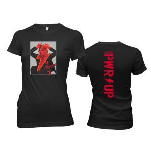 Angus Devil Frame Ladies Black T-Shirt