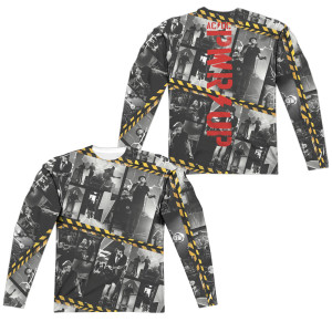 AC/DC PWR UP Photo Tiles Longsleeve Tee