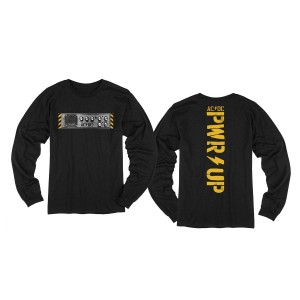 PWR UP Knobs Black Long Sleeve T-Shirt