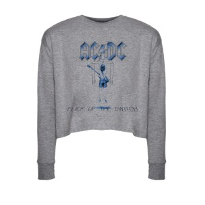 Flick Of The Switch Long Sleeve Crop Top